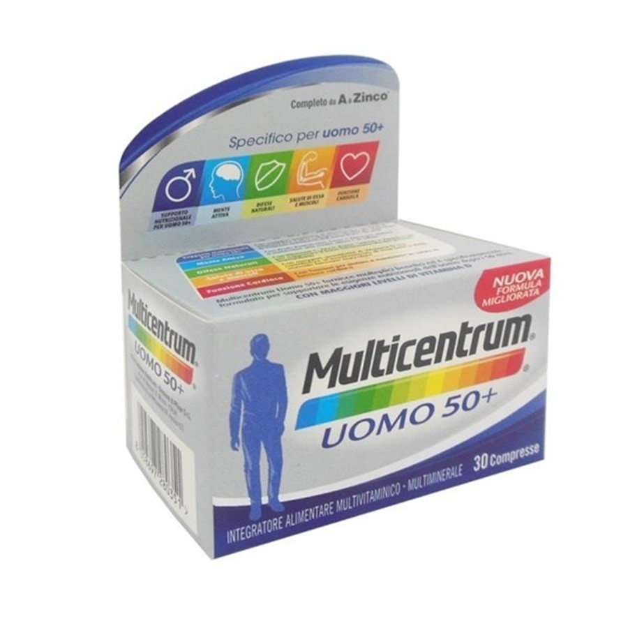 Multicentrum Uomo 50+ Integratore 30 Compresse Capsule