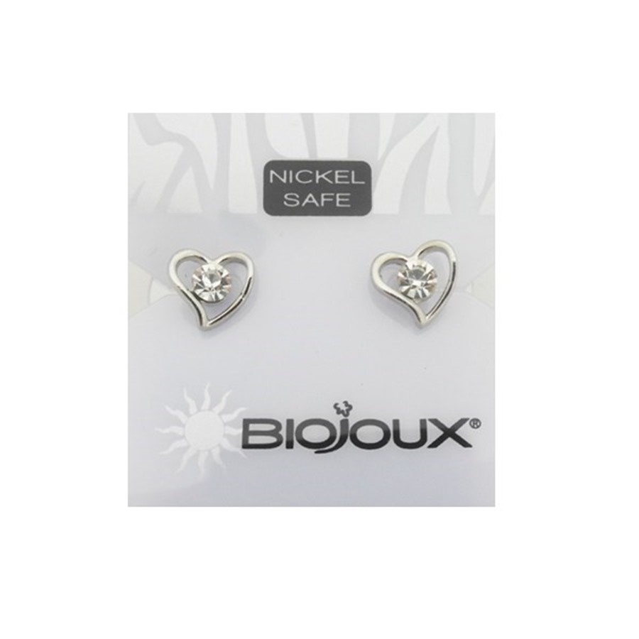 Biojoux Orecchini Heart With Crystal 9MM