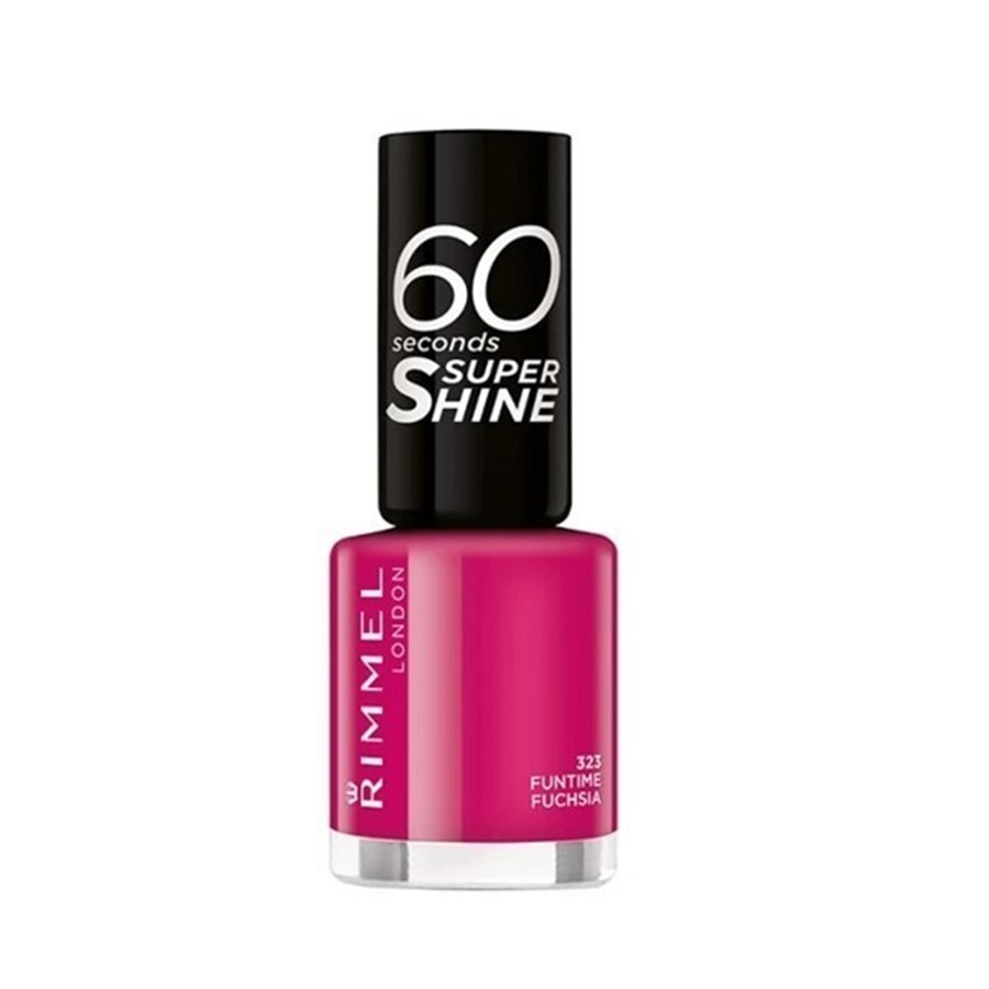 Rimmel London Super Shine 60'' Smalto 323 Funtime Fuchsia
