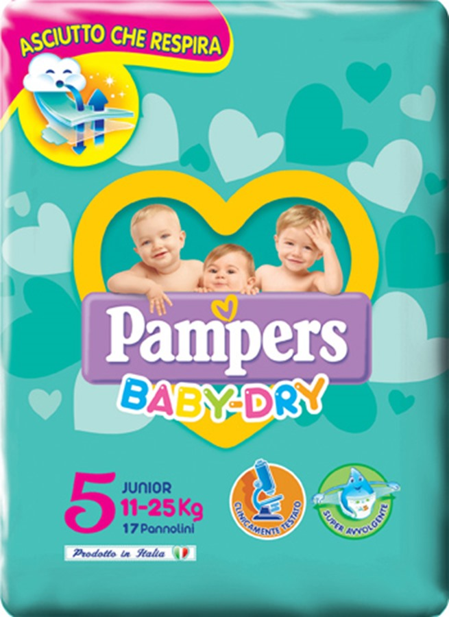 Fater Pampers Bd Downcount J 17Pz